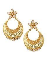Ethnic Indian Artisan Jewelry Set Pretty Dangler EarringsBAEA0349WH