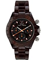 Toywatch Imprint Wood Grain Chronograph Unisex Watch Fle03Wd