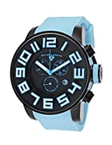 Airbourne Chronograph Light Blue Silicone Black Dial (30425-Bb-01-Bblsa)