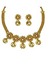 Ethnic Indian Bollywood Jewelry Set Traditional Fashion Necklace SetABNE0344WH