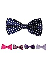 DBFF0028 Multi Satin Bow Ties Set Pre-Tied For Party - 5 Colors Available By Dan Smith