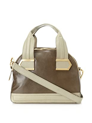 Allibelle Women's Stripes Satchel (Olive)