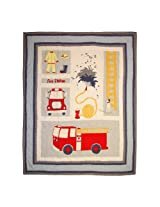 Patch Magic 50-Inch by 60-Inch Fire Truck Throw