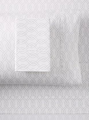 Blissliving Home Link Sheet Set (White/Glacier Grey)