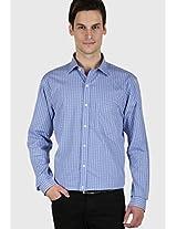 Checks Blue Formal Shirt Kingswood