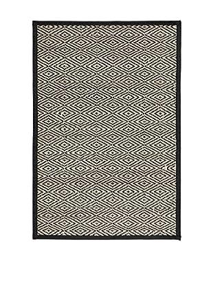 Concept Luxury Teppich Bamboo schwarz/natur