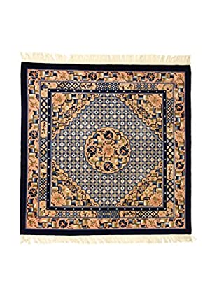 L'Eden del Tappeto Teppich Antic Finish blau/mehrfarbig 183t x t183 cm