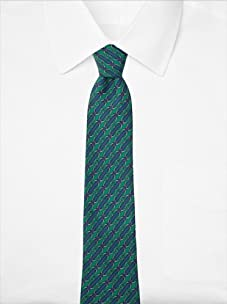 Hermès Men's Striped Loops Tie, Green/Blue, One Size