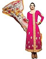 Pairahan Women Cotton Dress Material (Cpc013 _Pink)