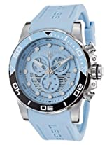 Avalanche Chronograph Light Blue Silicone Strap & Dial Silver-Tone Steel Case (21368-012)