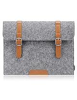 PLEMO Felt 15-15.6 Inch Laptop / Notebook Computer / MacBook / MacBook Pro Sleeve Case Bag Cover, Grey