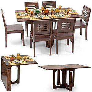Danton Teak Finish Foldable Dining Table