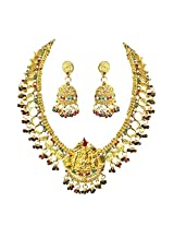 Suratdiamond Gold-Plated Choker Necklace For Women Multi-Colour - PS279