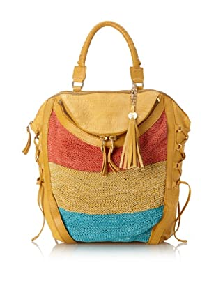 Olivia Harris Women's Columbier Striped Convertible Backpack (Turquoise Multi)