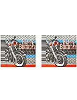 Motorcycle Theme Party Pack ~ Luncheon Napkins & Dinner Plate