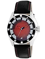 Fastrack Analog Red Dial Men's Watch - 3089SL10