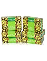 Vaadi Super Value Pack of 6 EXOTIC KIWI SOAP with Green Apple extract (5 + 1 FREE)