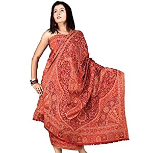 Little India Paisley Kashmiri Shawl DLI3SHW102