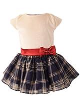 Faye Cream Velvet & Tartan Tutu Dress 5-6 Years