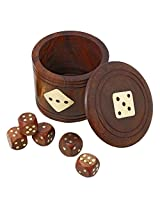 "Artisan Dice and Box Cup Set - Handmade Wooden Toys and Games for Families - 3"" x 2.5"""
