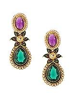Ethnic Indian Artisan Jewelry Set Pretty Dangler EarringsBHEA0025PG