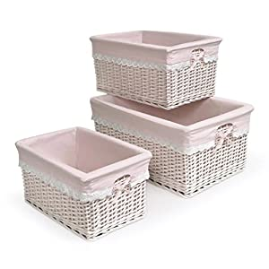 Badger Basket Three Basket Set, Pink