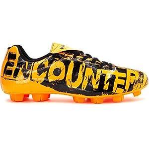 Nivia Encounter Football Stud - Orange Black- 6 UK