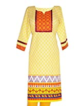 IndiaVillage women's straight knee length kurti