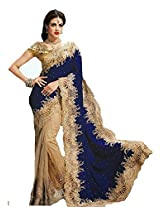 Charming Latest Floral Velvet Cut worked Sarees SAEX2719