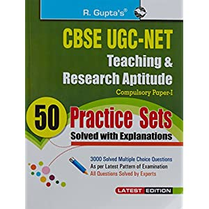 CBSE-UGC-NET Teaching & research Aptitude 50 pracitice sets (Solved with Explanations)