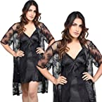Little India Black Fish Net 3 Piece Hot Nightwear Sleepwear - DLI3NTW525