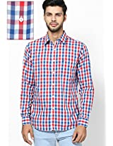 Blue Checks Regular Fit Casual Shirt