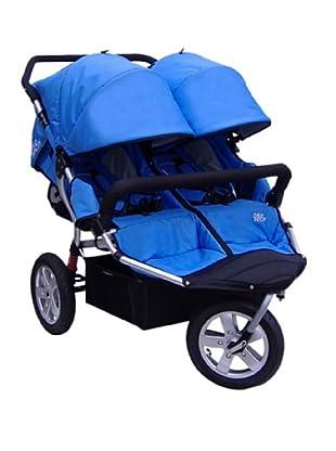 Tike Tech City X3 Swivel Double Stroller with Bonus Rain Cover, Blue