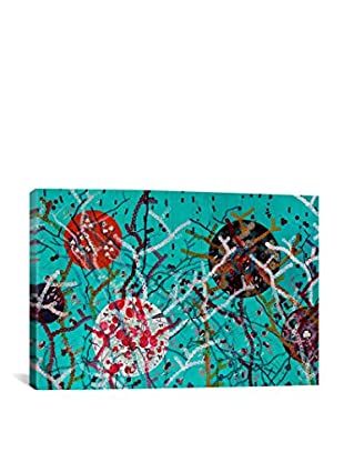 Lia Porto Gallery Primavera En El Bosque Verde Canvas Print