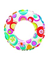 Intex 59241 Kids Circular Inflatable Swim Ring Float, Size 61 cm, For Ages 6 - 10 Years
