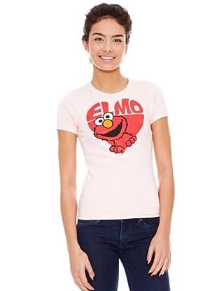 Logoshirt Camiseta Sesame St. - Elmo in Heart (Rosa)