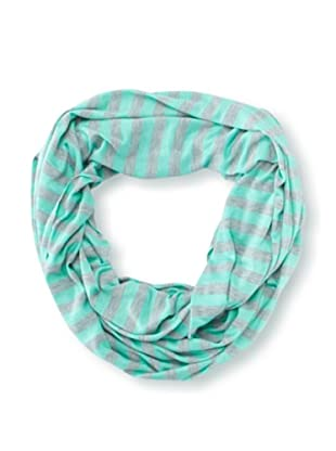 Raj Imports Women's Striped Infinity Scarf (Grey/Aqua)