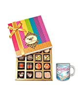 Whimsically Designed Little Bites Of Heaven With Birthday Mug - Chocholik Belgium Chocolates