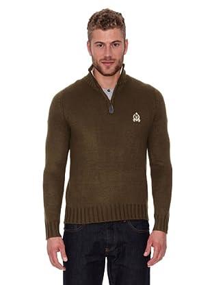 CLK Jersey Solid Half Zipper (Oliva)