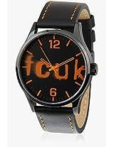 Fc1096Oolgj Orange/Black Analog Watch FCUK