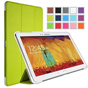 MoKo Samsung Galaxy Note 10 2014 Edition Case - Ultra Slim Lightweight Smart-shell Stand Case for Note 10.1 Inch 2014 Edition Tablet GREEN (With Smart Cover Auto Wake / Sleep)