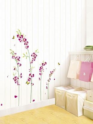 Vinilo Flores de la orquídea Multicolores