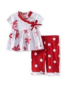 Baby Nay Short Sleeve Kimono Set (Watercolor Pond)