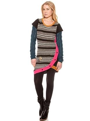 SideCar Kleid Strick (Mehrfarbig)