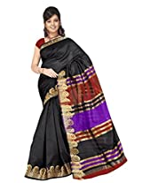 Vibes Cotton Patch Work Saree (S43-188 _Black)