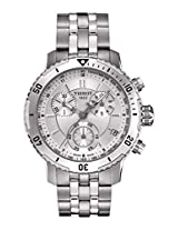 Tissot Men's T067.417.11.031.00 PRS 200 Silver Chronograph Dial Watch