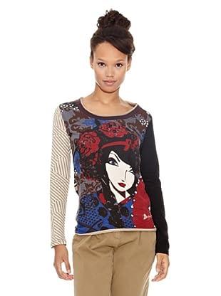 Desigual Camiseta Epsil (Berenjena)