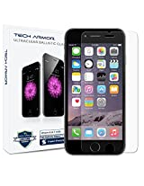 iPhone 6S Screen Protector, Tech Armor Apple iPhone 6 (4.7 inch ONLY) HD Clear Ballistic Glass (.2mm)- Protect Your Screen from Scratches - 99.99% Clarity and Touchscreen Accuracy