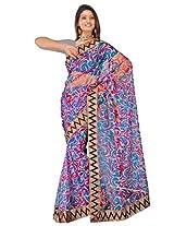 Sehgall Saree Indian Ethnic Professional Net Print with Fancy Border Saree Saree