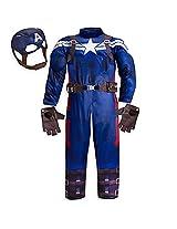 Disney Store Little Boys Deluxe Captain America Costume Sz 5/6